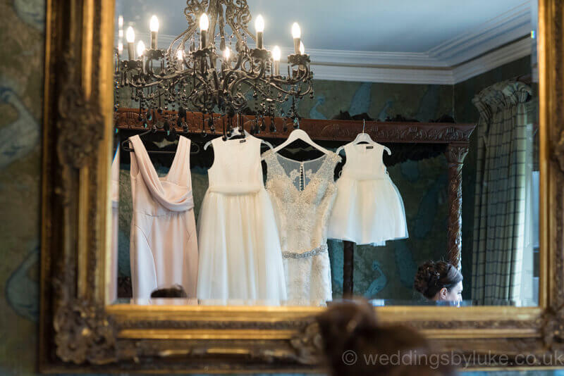 Wedding Dresses Viewed in Mirror