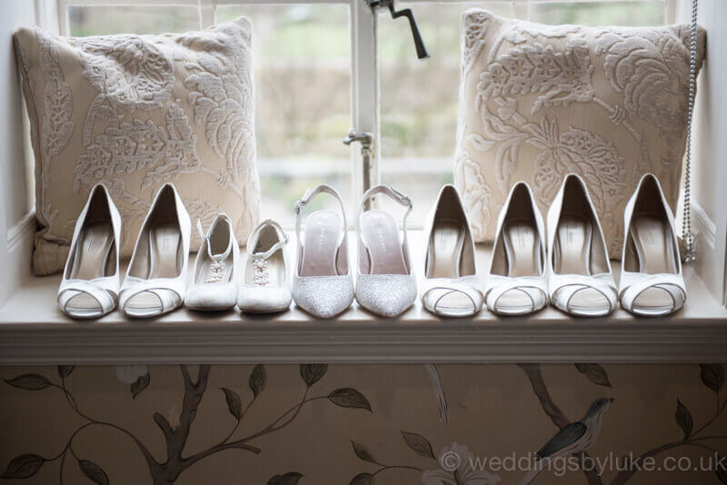 Line of Ladies Wedding Shoes