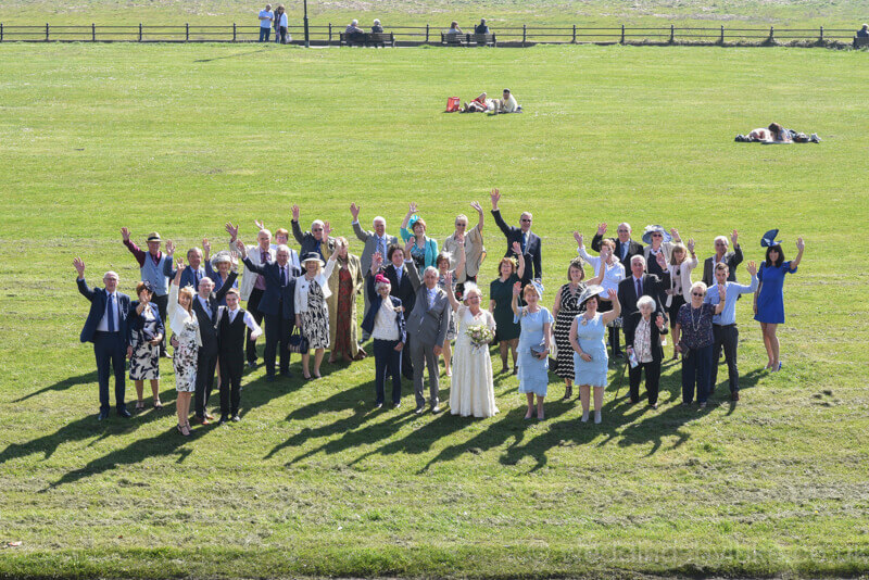 Wedding Guests on Lytham Green