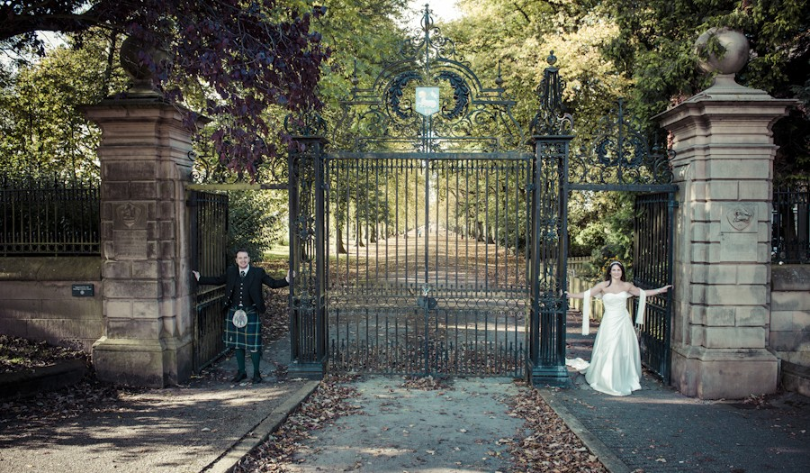 An Autumnal Post-Wedding Portrait