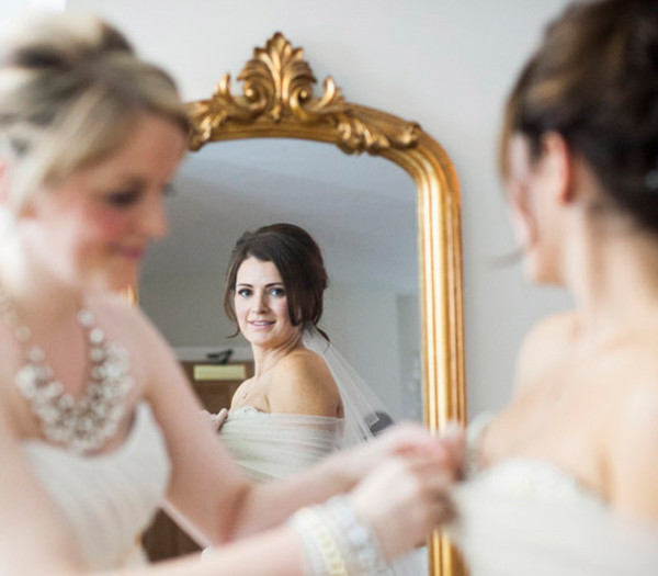 Prepping the bridal prep