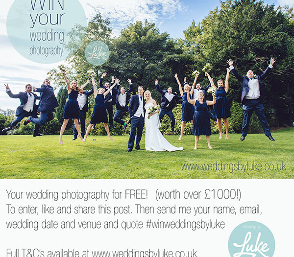 Your last chance for FREE wedding photography