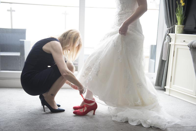 Michelle's Red Wedding Shoes