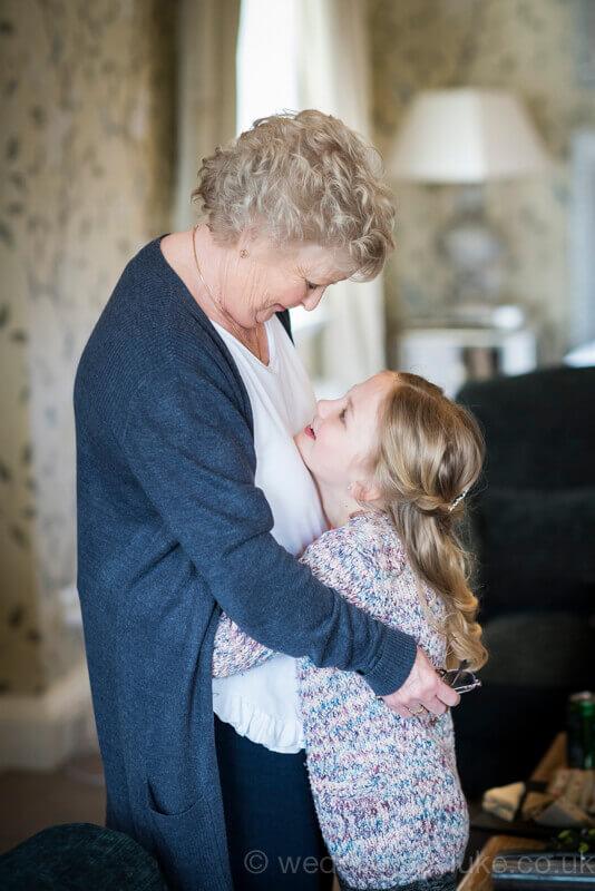 Grandmother & Granddaughter Hugging